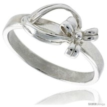 Size 6.5 - Sterling Silver Dainty Bow Ring 5/16 in  - $16.66