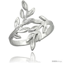 Size 7 - Sterling Silver Olive Branch Ring Polished finish finish 7/8 in  image 2