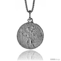 Sterling Silver Saint Christopher Medal, 3/4  - $39.70