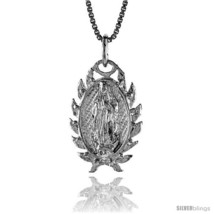 Sterling Silver Mary Immaculate Medal, 7/8  - $48.05