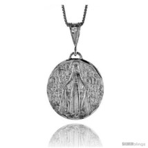 Sterling Silver Mary Immaculate Medal, 1 1/8  - $84.23