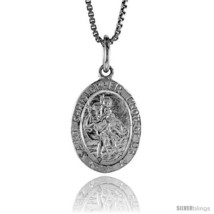 Sterling Silver Saint Christopher Medal, 3/4 in -Style  - $35.06