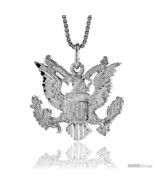 Sterling Silver American Eagle Pendant, 3/4 in X 1 in (mmX24  - $55.46