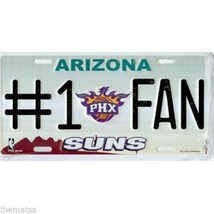 PHOENIX SUNS NUMBER ONE FAN NBA BASKETBALL METAL LICENSE PLATE USA MADE - $29.69