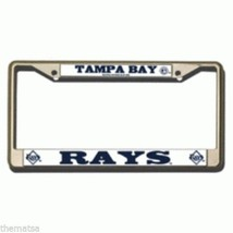 TAMPA BAY DEVIL RAYS LOGO TEAM MLB BASEBALL CHROME LICENSE PLATE FRAME U... - $29.69