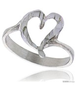 Size 6.5 - Sterling Silver Heart Ring Polished finish 7/16 in  - $16.66