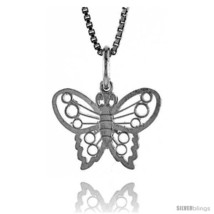 Sterling Silver Small Butterfly Pendant1/2  - $30.42