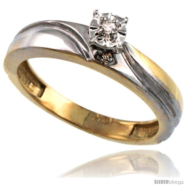 Size 9 5 10k Gold Diamond Engagement Ring and 50 similar items
