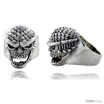 Size 13 - Sterling Silver Scaly Gothic Biker Sk... - $120.24