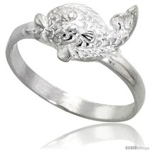 An item in the Jewelry & Watches category: Size 8 - Sterling Silver Fish Ring Polished finish 3/8 in