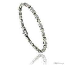 Sterling Silver 1.5 ct. size Marquise Link Cubic Zirconia Bracelet, with  - $57.71