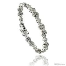 Sterling Silver Vintage Style CZ Butterfly Bracelet, 7 in., 1/4 in (7 mm)  - $108.36