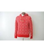 LOUIS VUITTON Supreme Box Logo Hooded Sweat shirt Red XXS LV Auth ak145 - $7,580.00