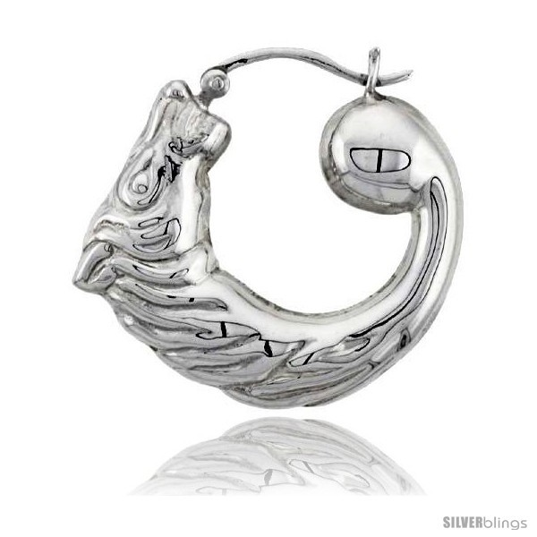 Primary image for Sterling Silver High Polished Medium Horse Head