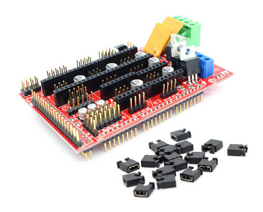 Arduino shield 3d printer kit ramps 1 4 mega 2560 a4988 motor extruder reprap other electric Arduino mega 2560 motor shield