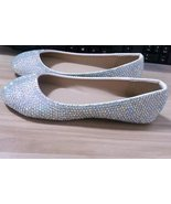 Swarovski Ballet Flats AB Rhinestone Closed Toe Wedding Flat Shoe Women ... - $95.00