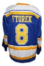 Robbie Ftorek Phoenix Roadrunners Retro Hockey Jersey New Blue Any Size image 2