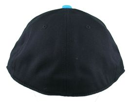 Etnies Chevy 210 Fitted Flex Fit Black Cyan Blue Hat Size: L/XL image 4