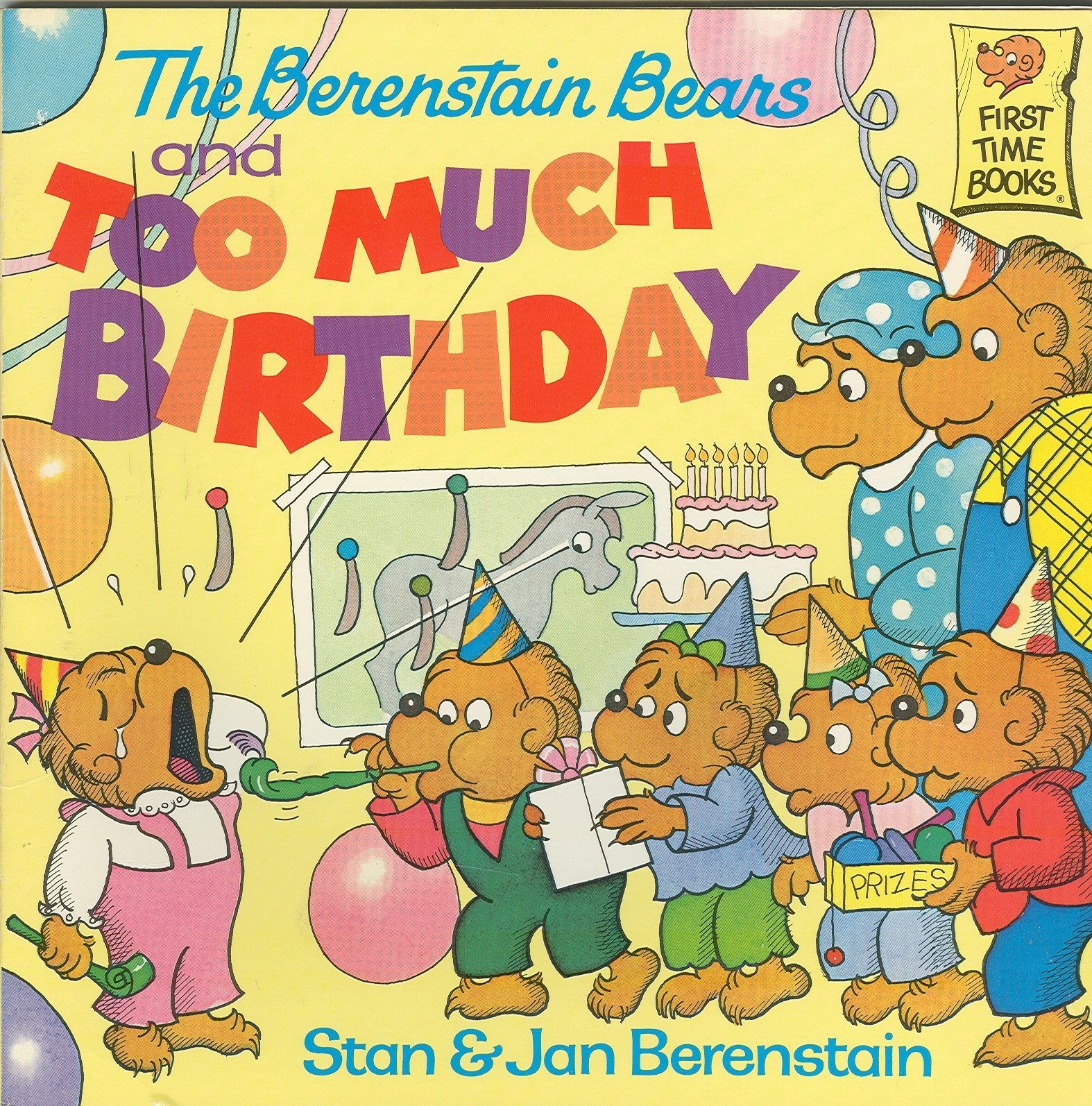 6) BERENSTAIN BEARS-BIRTHDAY;MESSY ROOM;STAGE FRIGHT;BABYSITTER;JUNK FOOD;RESCUE