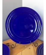 RACHEL RAY SET OF 4 BLUE DOUBLE RIDGE DINNER PLATES Excellent Condition!... - $16.82