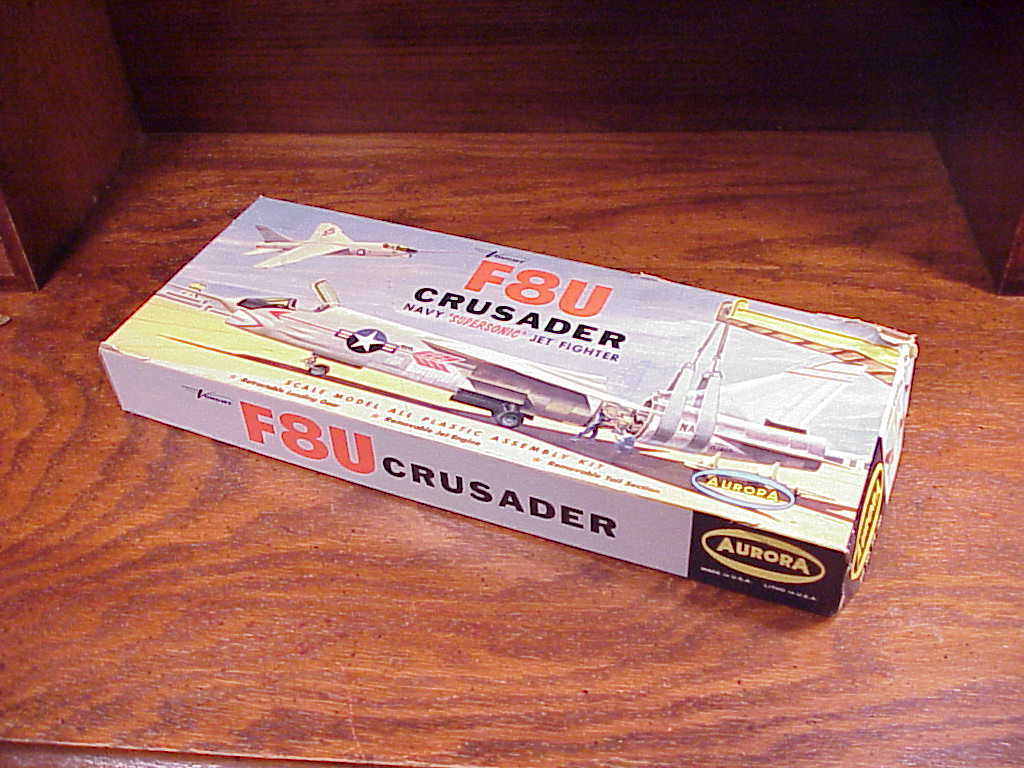 Primary image for Aurora F8U Crusader Model Kit No. 119-100 Box Only