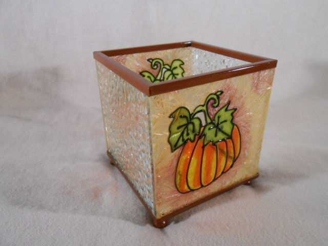 Primary image for PUMPKIN Vine CANDLE HOLDER Thanksgiving Harvest (#14259)