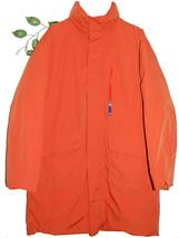Armani Jeans Orange Goose Down ITALY Men's Jacket Coat Hidden Hood Size ... - $346.50