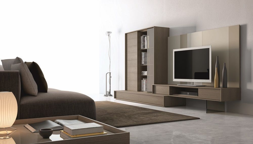 Chic Modern J&M Composition 214 Light Brown & Beige Etertainment Wall Unit