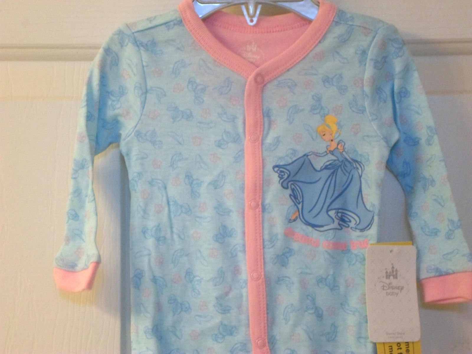 Disney Baby Princess Cinderella Light Weight Sleeper for Baby Sz 6-9 Mos - $19.99