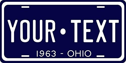 Ohio 1963 Personalized Tag Vehicle Car Auto License Plate