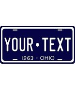Ohio 1963 Personalized Tag Vehicle Car Auto License Plate - $16.75