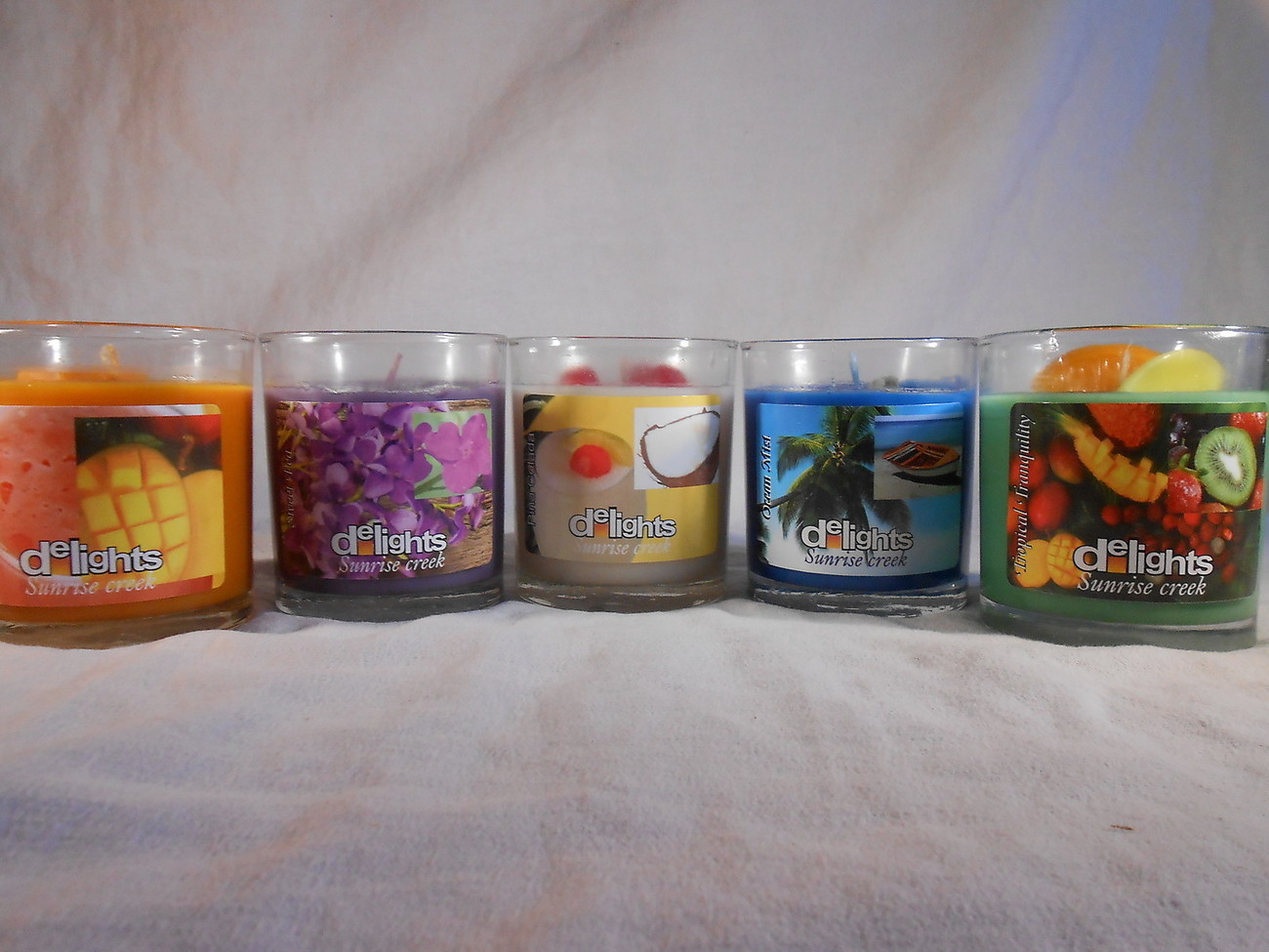 Primary image for SCENTED Jar CANDLE Choose Ocean Mist Sweet Pea Pina Colada Mistic Mango Tropical