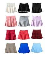 Women's High Waist Solid Pleated Mini Tennis Skirt ( S, Khaki) - $23.75