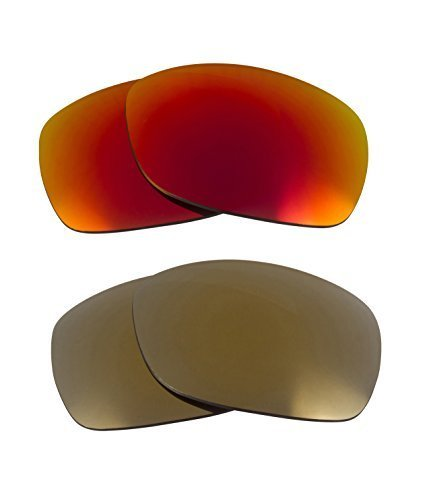 New SEEK Replacement Lenses Oakley SIDEWAYS - Polarized Gold Red