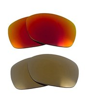 New SEEK Replacement Lenses Oakley SIDEWAYS - Polarized Gold Red - $31.17