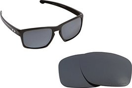 New SEEK Replacement Lenses Oakley SLIVER Asian Fit Polarized Black Iridium - $18.30