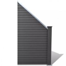 Slanted Garden Fence Panel Gray Gate Modern Patio Barricade Terrace Wall... - $120.78