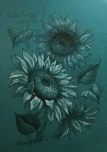 Sunflower flowers on a sunny day. Pencil and white pastel original drawi... - $56.33