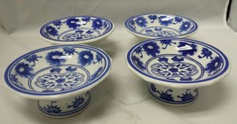 Ceramic Pedestal Bowls: Chinese Asian Porcelain Plates Candle Holders Se... - $33.85