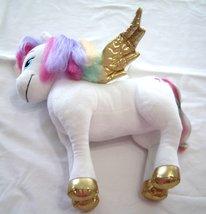Barbie Dreamtopia Rainbow Hair Plush White Unicorn Gold Horn Wings Hooves - $24.99