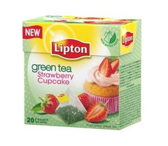 Lipton Green Tea - Strawberry Cupcake - Premium Pyramid Tea Bags (20 Count Box) - $25.03