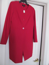 NEW TALBOTS JACKET WOVEN POLY WOOL BLEND TAILORED RED  SIZE 8 ORIG $229.00 - $79.95