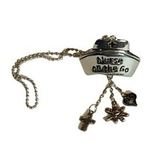 Nurse One the Go Rearview Mirror Car Charm Ornament Silver Tone NWOT - $9.32