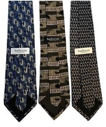 "NEW LOT of THREE (3) VAN HEUSEN Men's Neck Ties Imported Silk 58"" Retail... - $18.95"