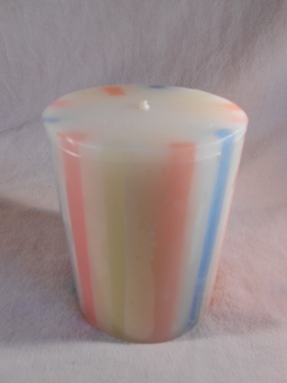 Primary image for Striped Scented PILLAR CANDLE Multicolored Decorative Candles (#36753)