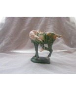 Chinese Horse Figurine Green Scratching Hoof - $24.99