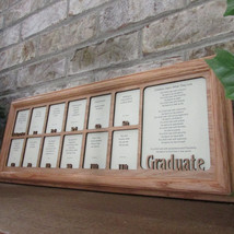 School Years Frame with Name Graduation Collage K12 Picture Frame and Ma... - $74.95