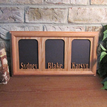 Personalized Three Name 5x7 Picture Photo collage  for 5x7 Pictures  fra... - $74.95