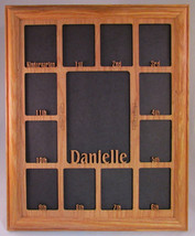 School Years oak picture frame with personalized 0ak matte insert K-12 1... - $64.95