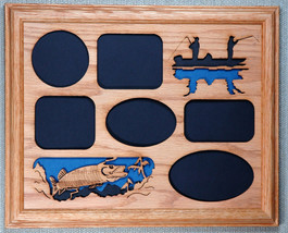 """Muskie Fishing"" Picture Frame and Mat 11x14 - $54.95"